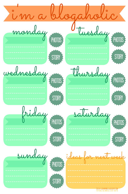 [luzia pimpinella BLOG] blogaholic blog planer frei zum downloaden und ausdrucken / blogaholic blog planner - a free printable to download