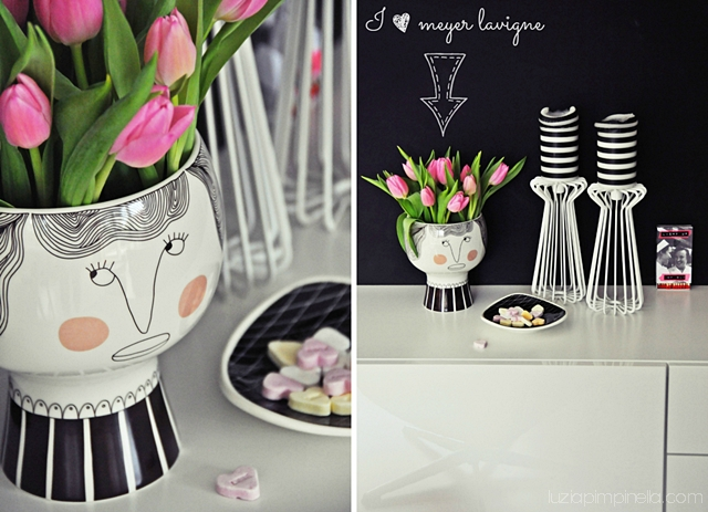 luzia pimpinella BLOG | interior design: meyer lavigne DK blumentopf & DIY washi tape kerzen in schwarz-weiß | meyer lavigne DK flower pot & DIY masking tape candles in b&w