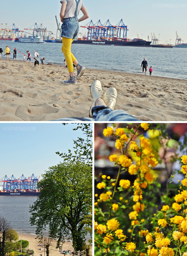 luzia pimpinella BLOG | frühlings-samstag am elbstrand hamburg | spring saturday at the elbe beach hamburg