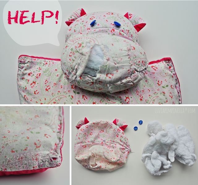 luzia pimpinella blog | DIY | die rettung des nili kissens | the rescue of the hippo pillow