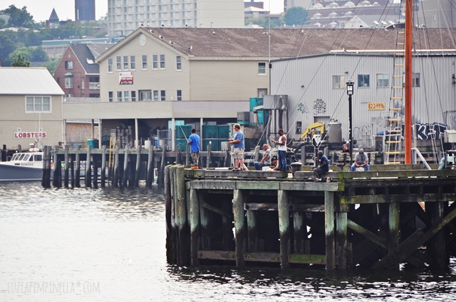 luzia pimpinella blog | travel portland maine | angler im hafen | harbor fishing