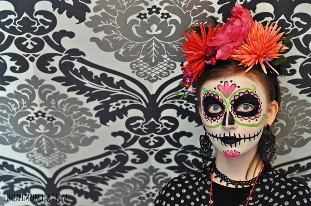 luzia pimpinella | familylife | halloween make up: dias de los muuertos calavera