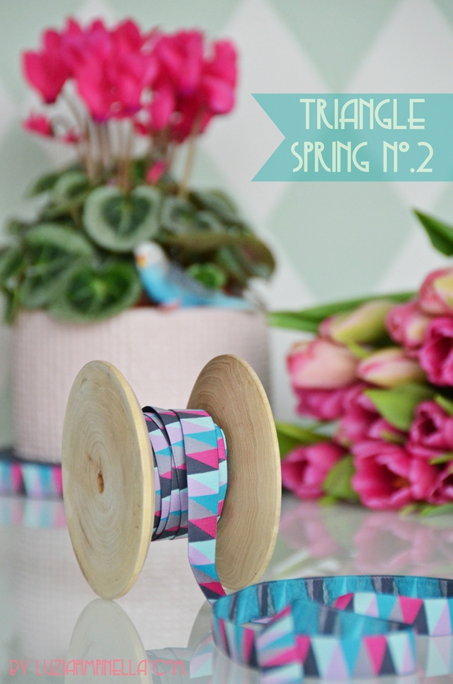 luzia pimpinella | DIY | webband - ribbon | hot pink triangle spring no.2