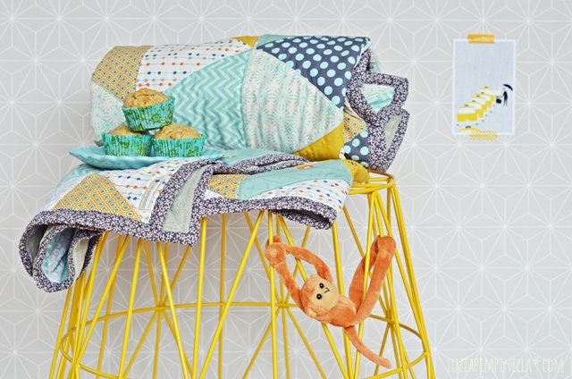 luzia pimpinella | DIY | selbst genähter triangle quilt no. | handmade triangle quilt no.2