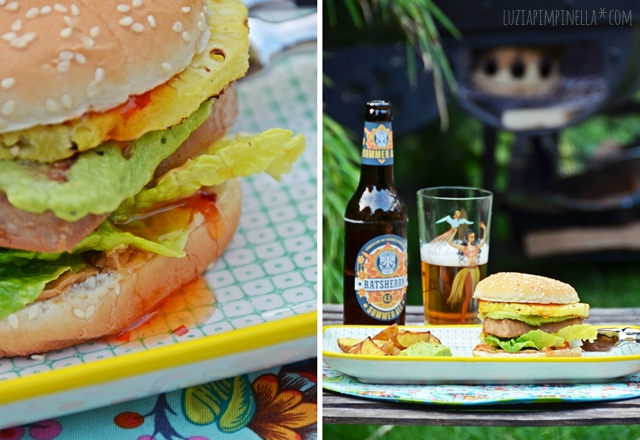 luzia pimpinella | rezept: gegrilllter teryaki tuna burger mit ananas | recipe: grilled teryaki tuna burger with pineapple