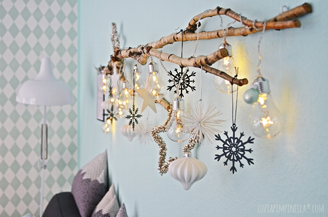 interior DIY | weihnachtsdeko mit birkenzweig | x-mas decor with birch branch | luzia pimpinella