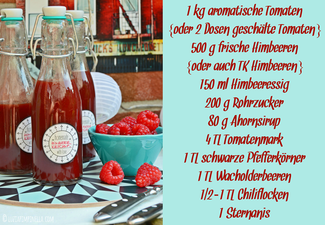 luzia pimpinella | grill & BBQ | rezept für himbeer-tomaten-ketchup | recipe for rasberry tomato ketchup