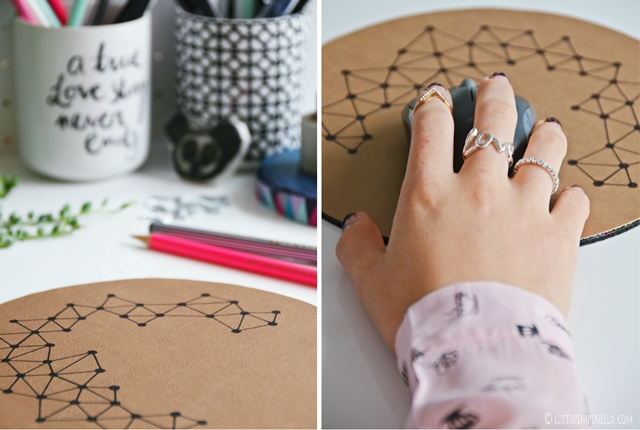 upcycling DIY | leder mousepad einfach selbermachen | easy handmade leather mousepad | ©luziapimpinella.com