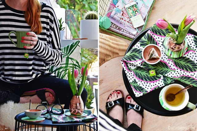 luzia pimpinella | DIY | marmorierte untersetzer selbermachen - green is the new black