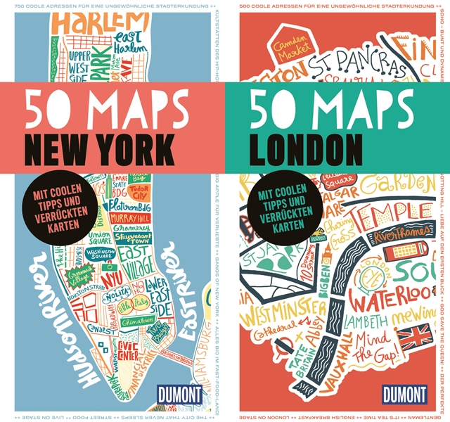 travel giveaway | die 50 maps city guides | new york, london, berlin & paris | luzia pimpinella
