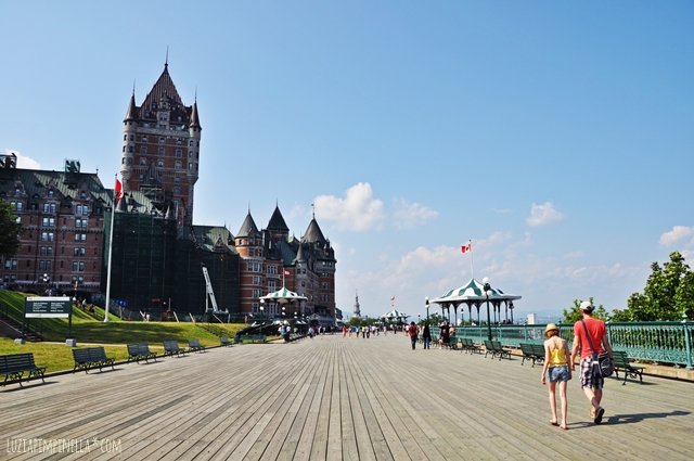 travel canada | sommertag in quebec city - chateau frontenac | luziapimpinella.com