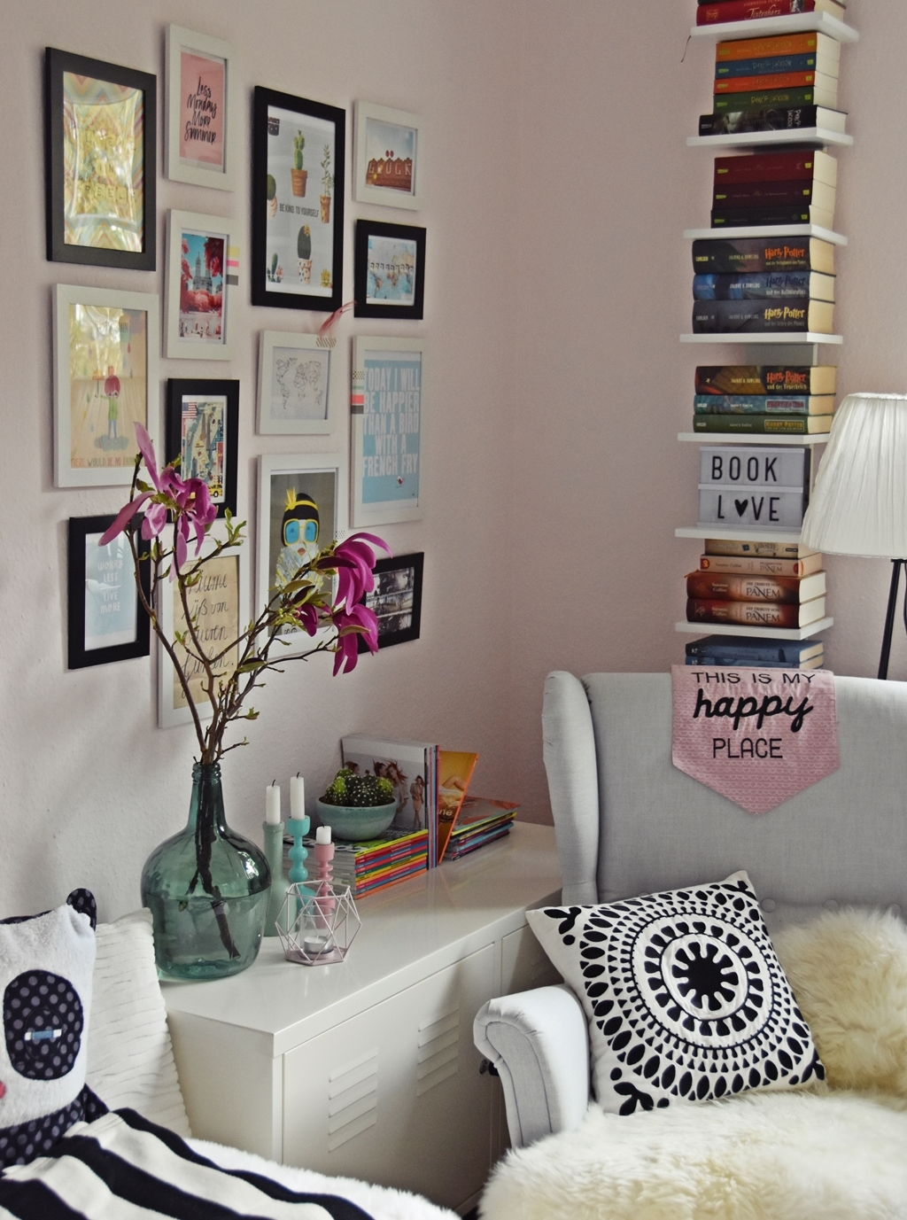 Teenager m dchen zimmer teen room makeover - Coole poster jugendzimmer ...