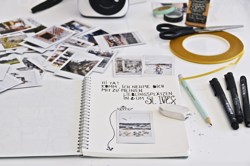 DIY- Handlettering St. Ives Travel Guide & Fuji Instax Mini 70 Giveaway #instaxyourlife   luziapimpinella.com