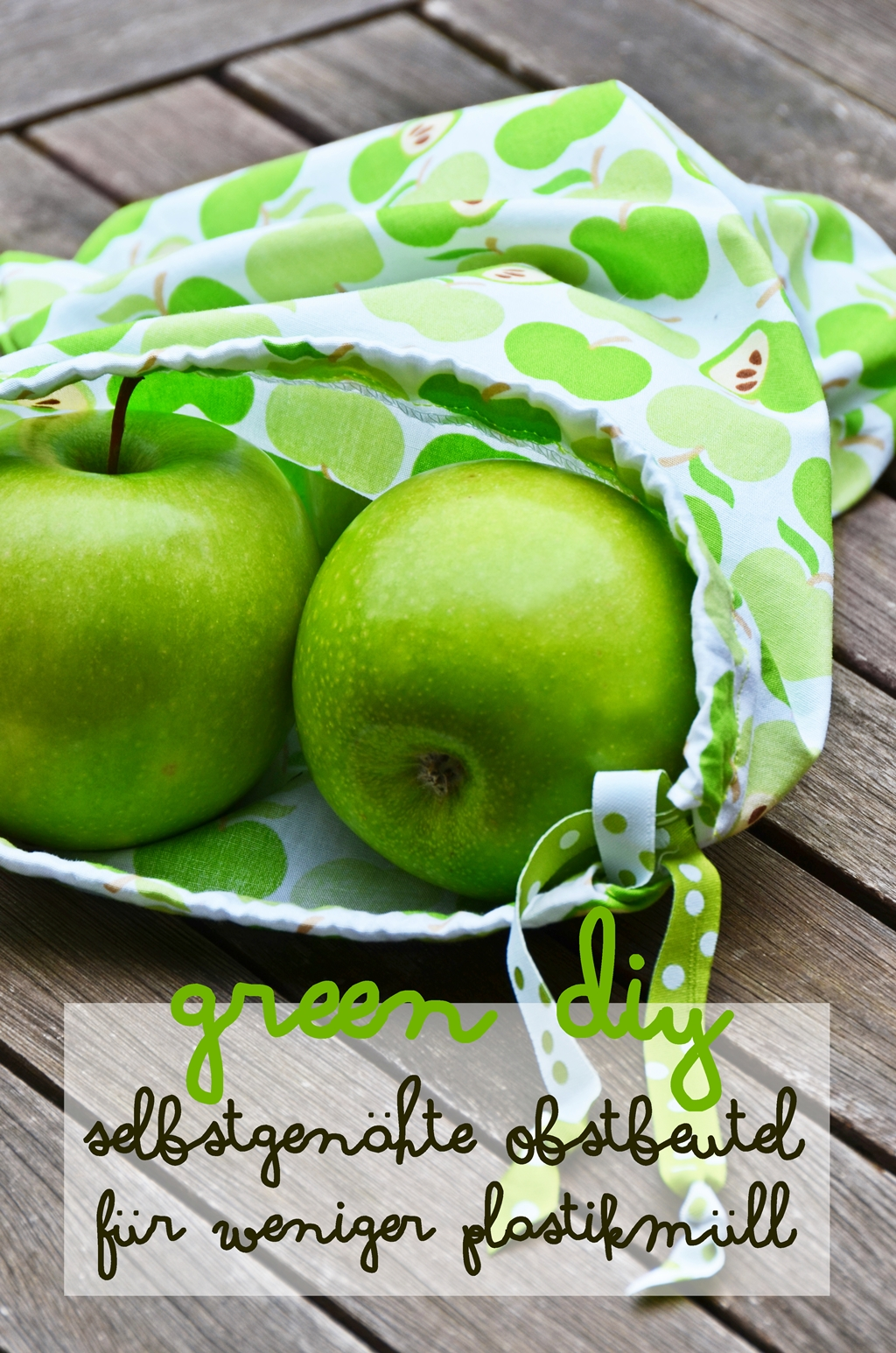 Green DIY | umweltfreundliche & nachhaltige Obstbeutel aus Stoff statt Plastik selbernähen | sewing eco friendly & sustainable drawstring bags for fruit and vegetable grocery shopping | luziapimpinella.com