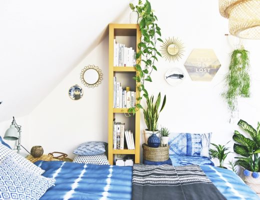 Interior | luftreinigende Grünpflanzen in meinem Schlafzimmer Urban Jungle und traumhaftes Indigo Shibori | Bedroom makeover with air cleaning plants and indigo shibori fabrics| luziapimpinella.com
