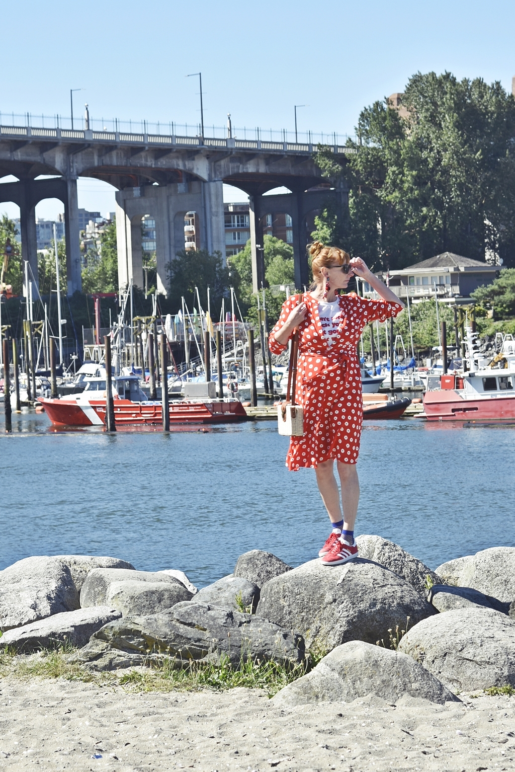 Outfit of the Day - Unsere Radtour in Vancouver - Granville Island Public Market & Stanley Park Seawall - West Kanada Roadtrip | Travel luziapimpinella.com