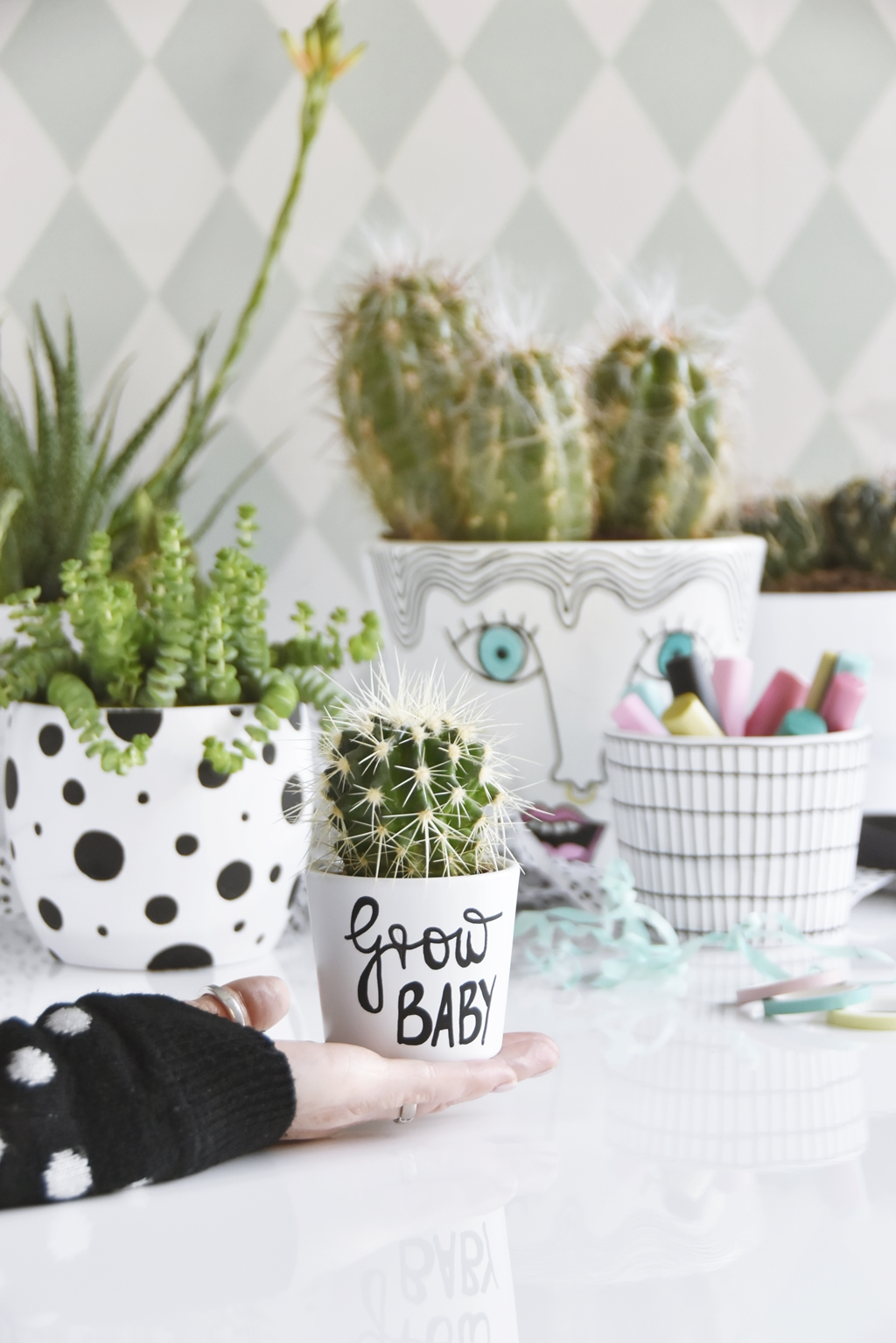 interior diy mit kreativmarkern stylische blument pfe