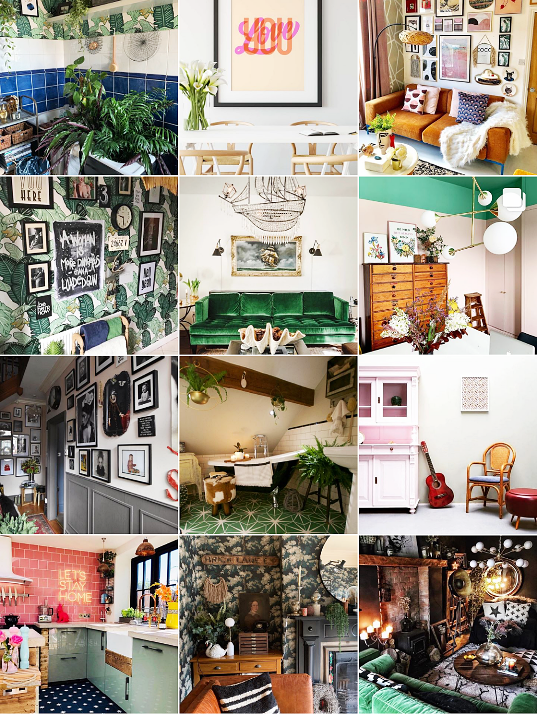 Inspirationen für Wohnen mit Farbe | Tschüss Minimalismus – Hallo farbstarke Einrichtungen | Bold & Eclectic Interior Instagram Accounts - @the-girl-with-the-green-sofa | luziapimpinella.com